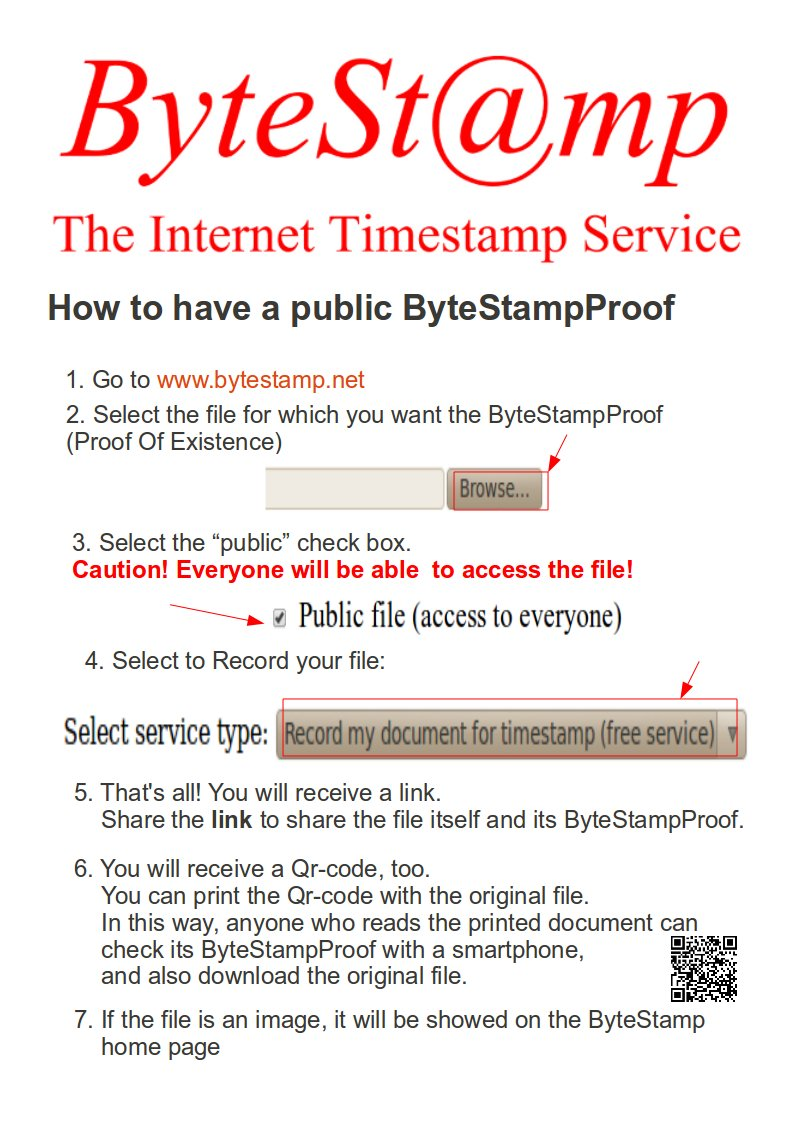 bytestampproof hashtag on Twitter