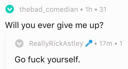 There's a Rick Astley AMA happening on Reddit right now https://t.co/Afxk6pxPbp