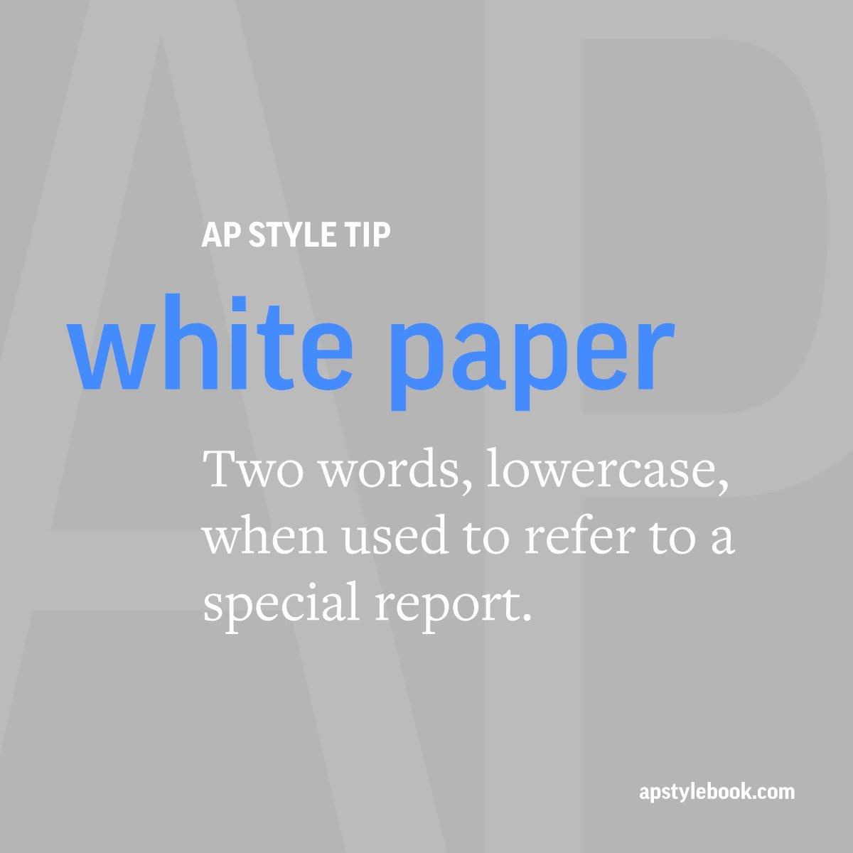 ap style paper