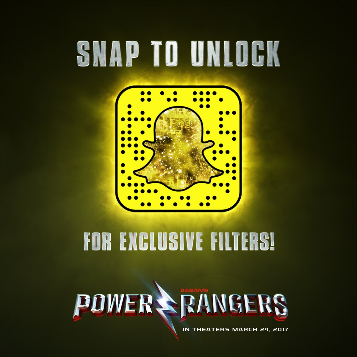 Power rangers snapchat
