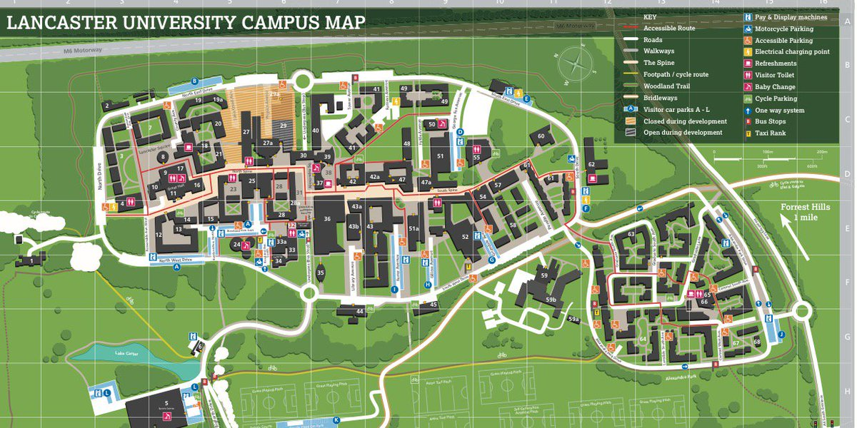 Lancaster Campus Map Lancaster University on Twitter: