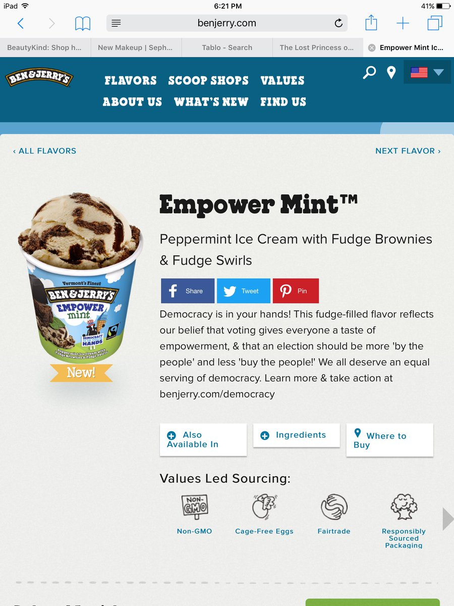 You all did it!!!! @benandjerrys made > Empower Mint .. #BenAndJerrysNewFlavor https://t.co/SXoDasdUHK