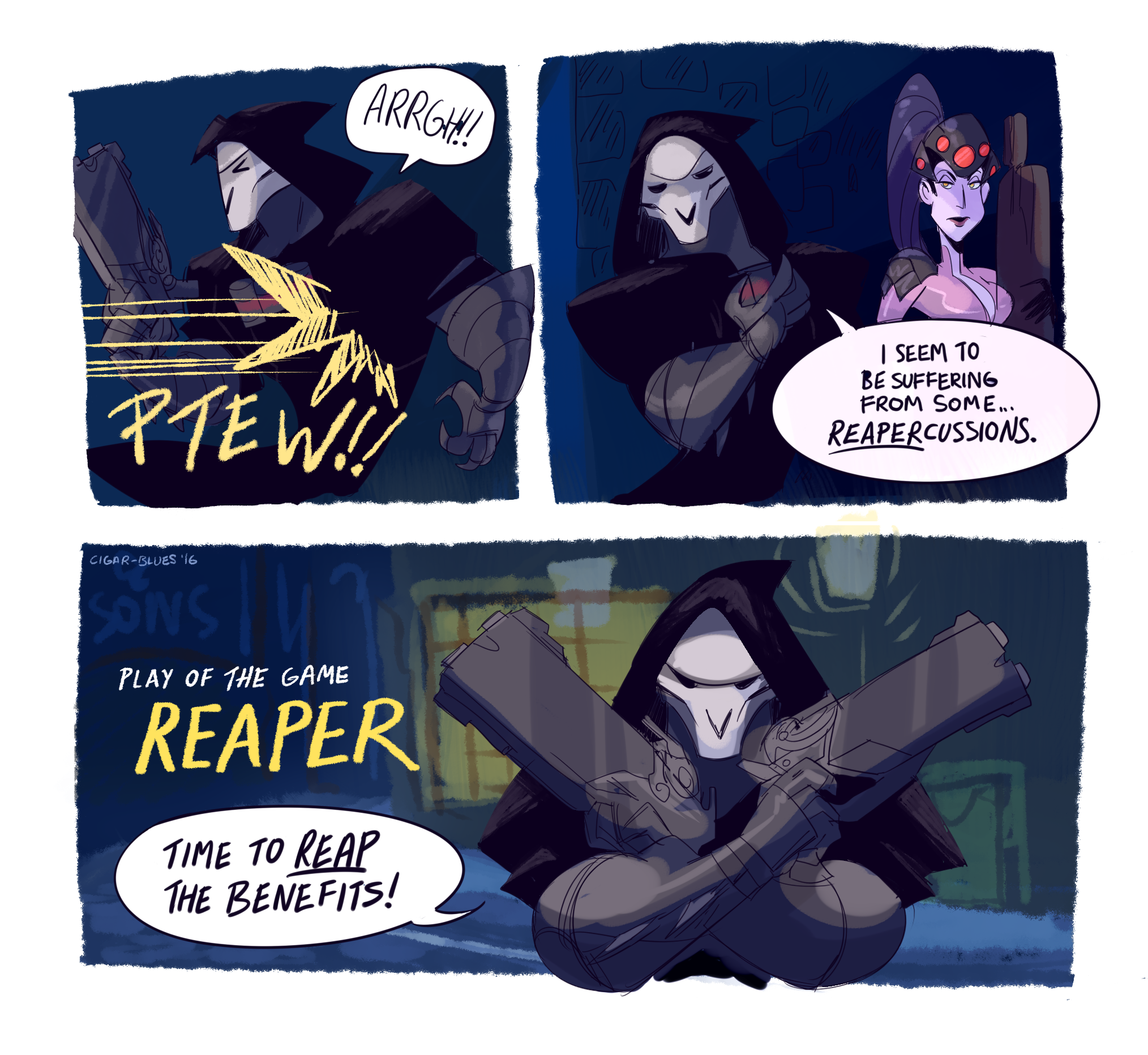 """Cig On Twitter: """"gabe Gets Really Into His Reaper Persona"""