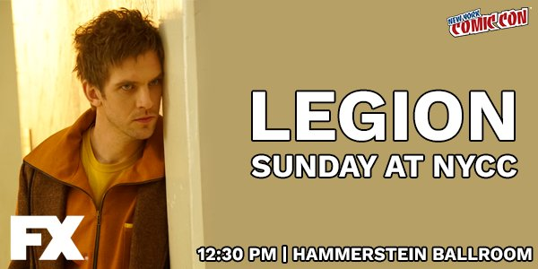 Going to #NYCC? Visit the #Legion panel and hear it straight from the cast and crew.