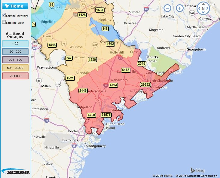 Chris Suchan On Twitter Power Outages Piling Up In South Carolina