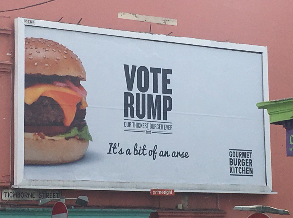 """vote rump. it's a bit of an arse.""  nice work GBK https://t.co/ID57Jx2MDZ"