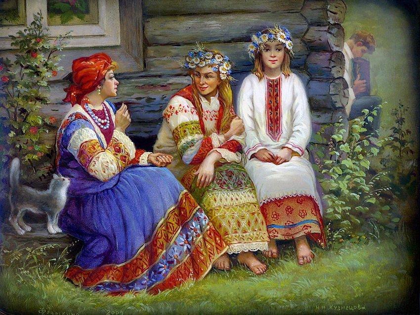 Три женщины и парень русское