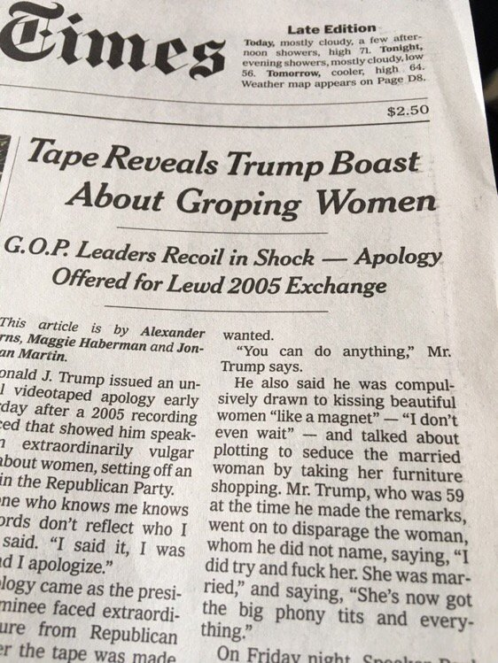 """Yup, that's the """"F word"""" on the front page of @nytimes https://t.co/0MsBtl6BBS"""