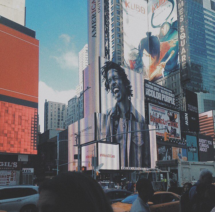 Raury. Times Square. https://t.co/EQvDhuu0pl