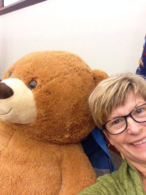 Me and the EdBear. So much fun @ #edcampmdlc https://t.co/F54TgmJ5yE