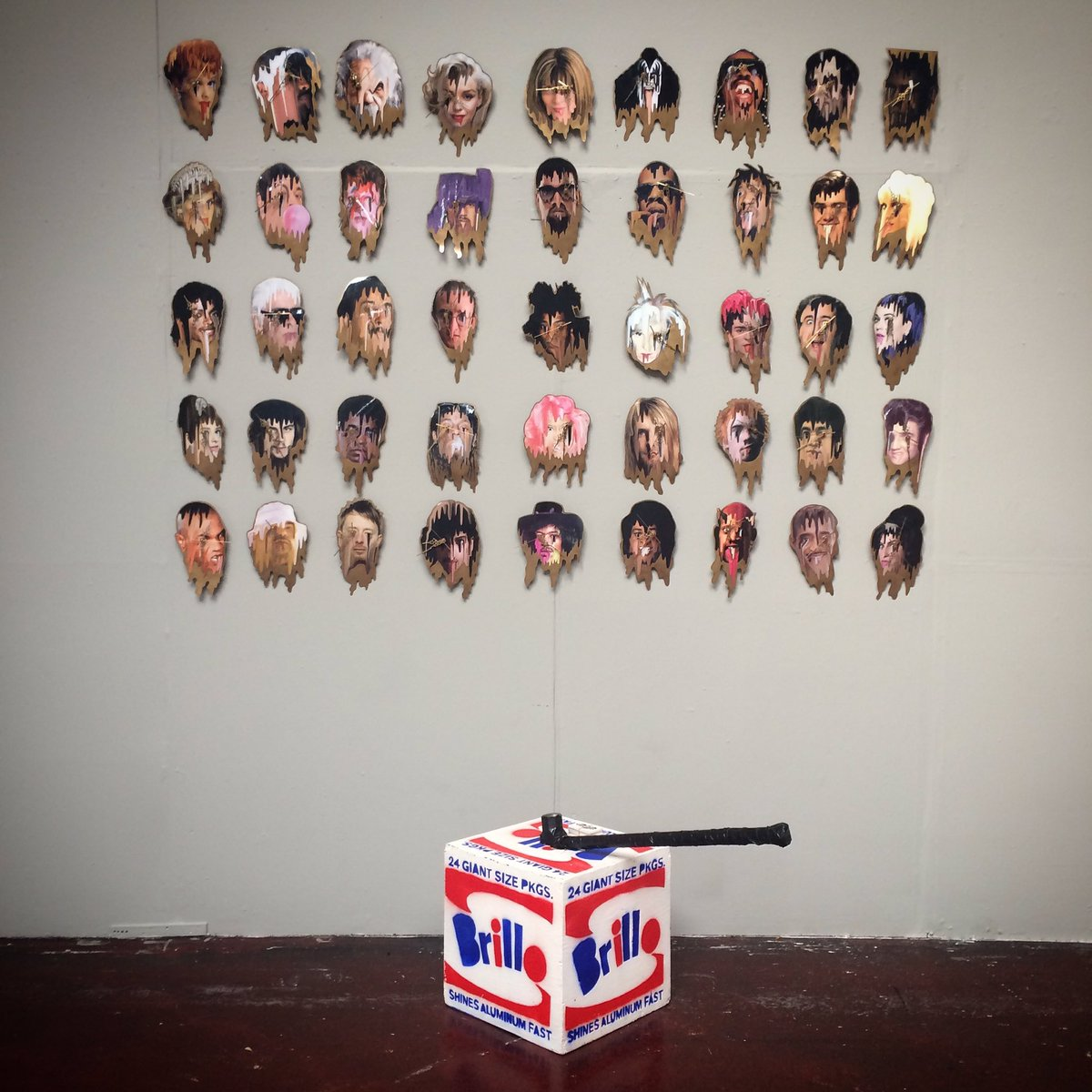Here is my installation for #FutureArts Fair in #Boston... How you like them Apples?
