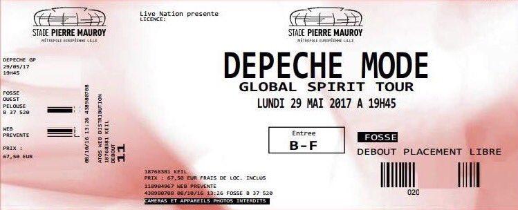 Билеты на концерт Depeche Mode в Москве