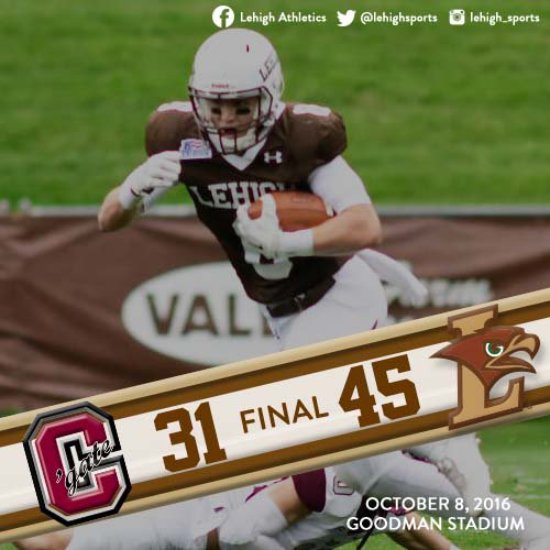 QUICK RECAP: Mountain Hawks Defense Sets Tone As Lehigh Beats Colgate, 45-31