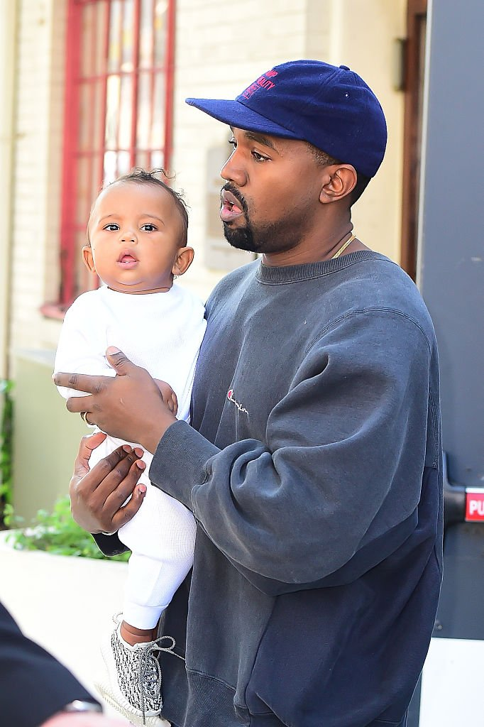 e6af8eced0e solewatch baby saint wearing yeezys with dad today