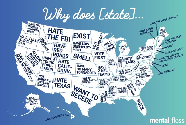 What People Are Wondering About Your State, According to Google