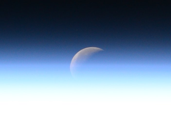 Happy International #ObserveTheMoon night.  It was pretty cool to observe it from the #ISS