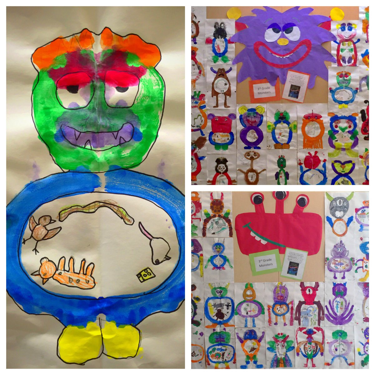 Cierha Berry On Twitter 3rd Grade Monsters Eating Food Chains Inspired By The Book Therewasanoldmonster Artchat Grade3