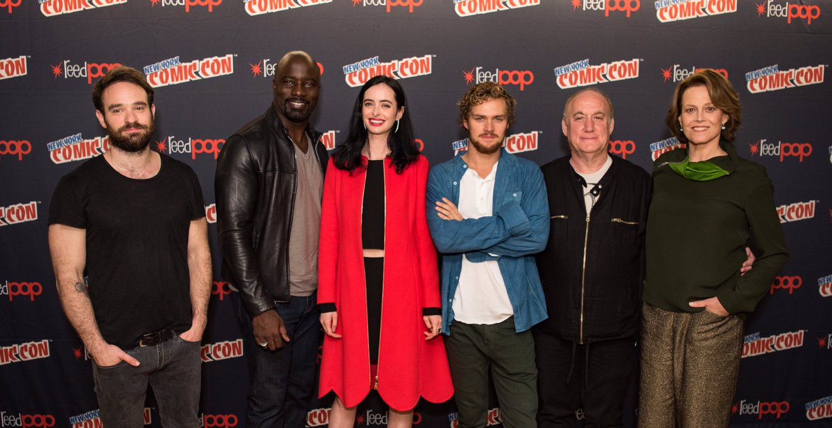 Now THIS is #squadgoals. #Defenders #NYCC #JessicaJones #Ironfist #Daredevil #LukeCage https://t.co/bicg1dzwRA