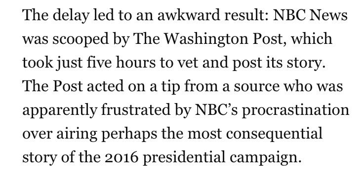 NBC News knew about the hot mic tape for 4 days but sat on it for fears Trump would sue. https://t.co/Dnj8UppOtb https://t.co/mH03ko0jaY