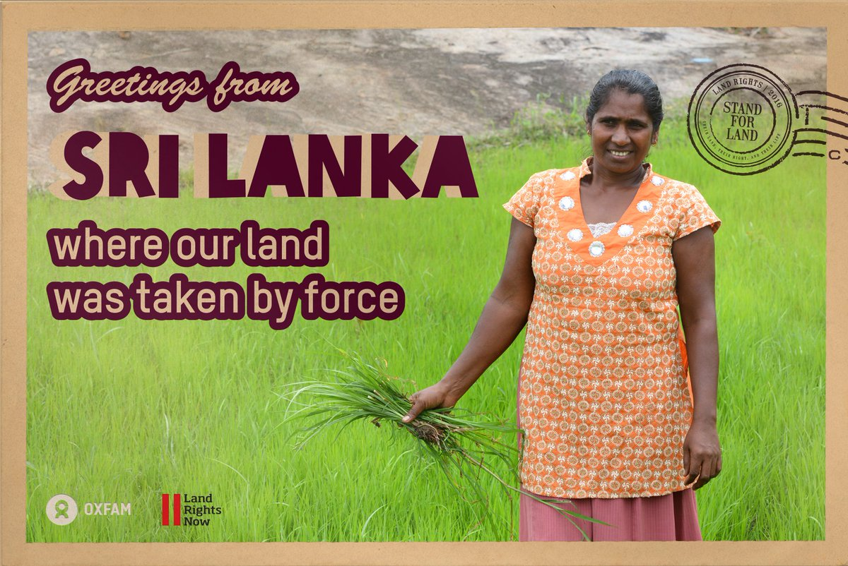 Oxfam international on twitter greetings from sri lanka where a darker truth lies behind the golden beach and sparkling sea httpsactoxfaminternationalenactionstake a stand for land rights in sri lanka m4hsunfo