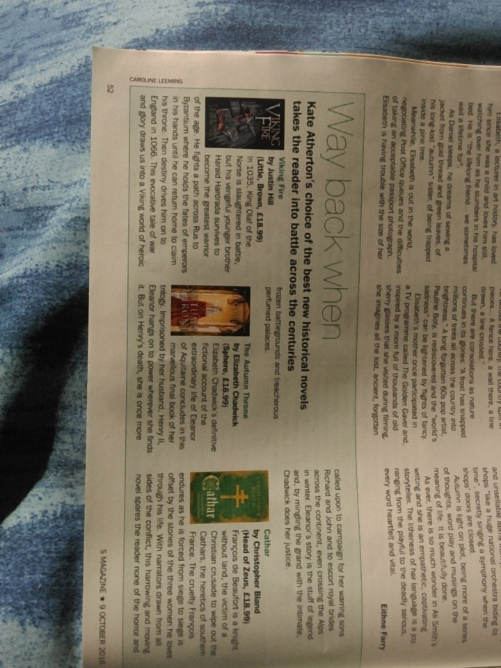 My historical fiction round up in today's Sunday Express, hot off the shelves! https://t.co/WvFPzZeAGz