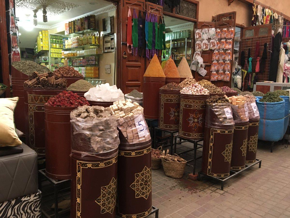 când vine vorba de volume, piața din Marrakesh nu se joacă