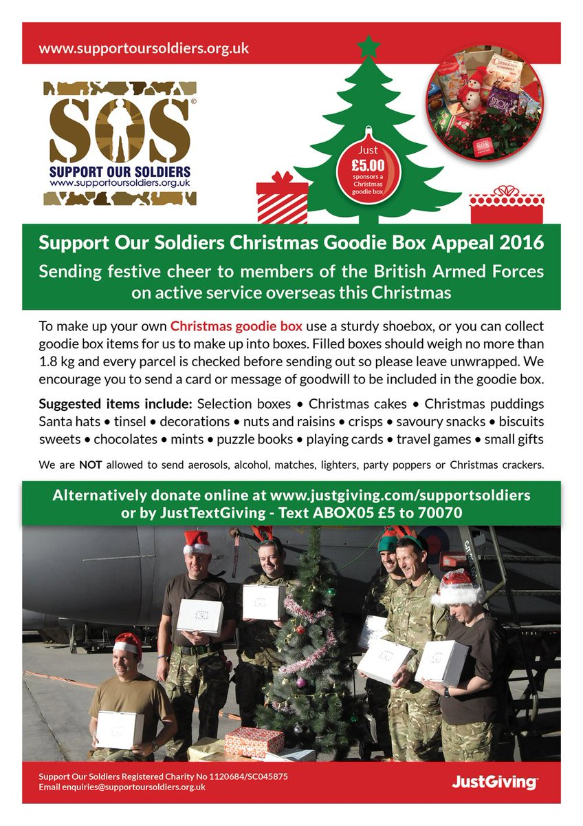 The 2016 Christmas Appeal is well underway! Please support the troops this Christmas! https://t.co/udv6vmnxiW