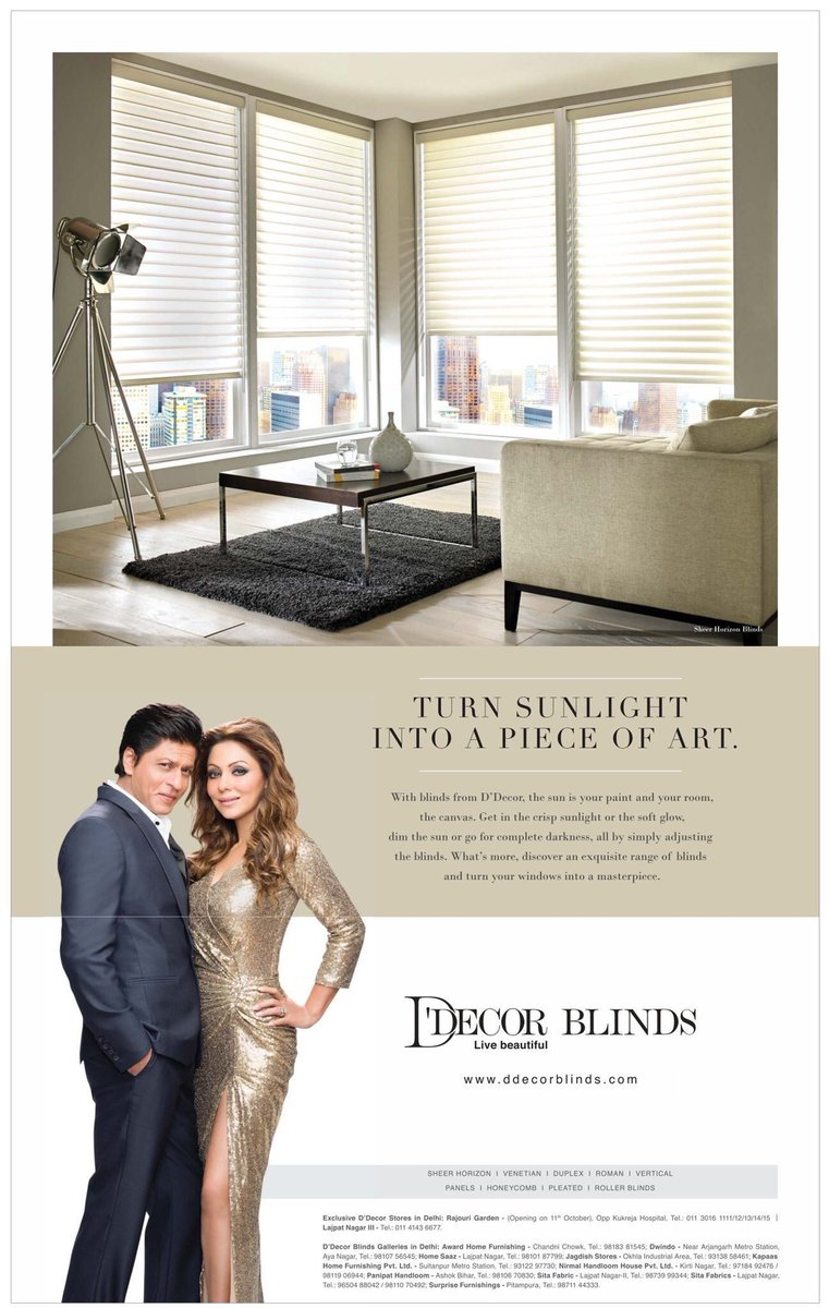 Srk Universe Austria On Twitter New D Decor Print Ads Featuring Shah Rukh Khan Gauri