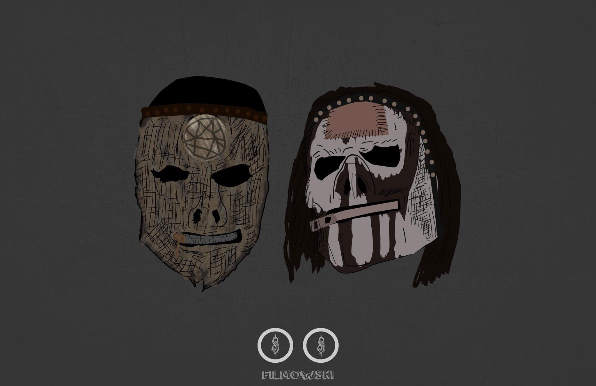 "Slipknot on Twitter: ""Vman // Jay // Mask art by ..."