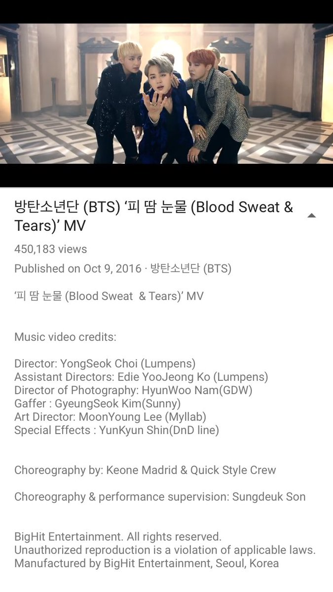 New choreo for @BTS_twt #BloodSweatTears with my @TheQuickstyle brothers https://t.co/nPTET7vbca https://t.co/DukC9cZ7qH