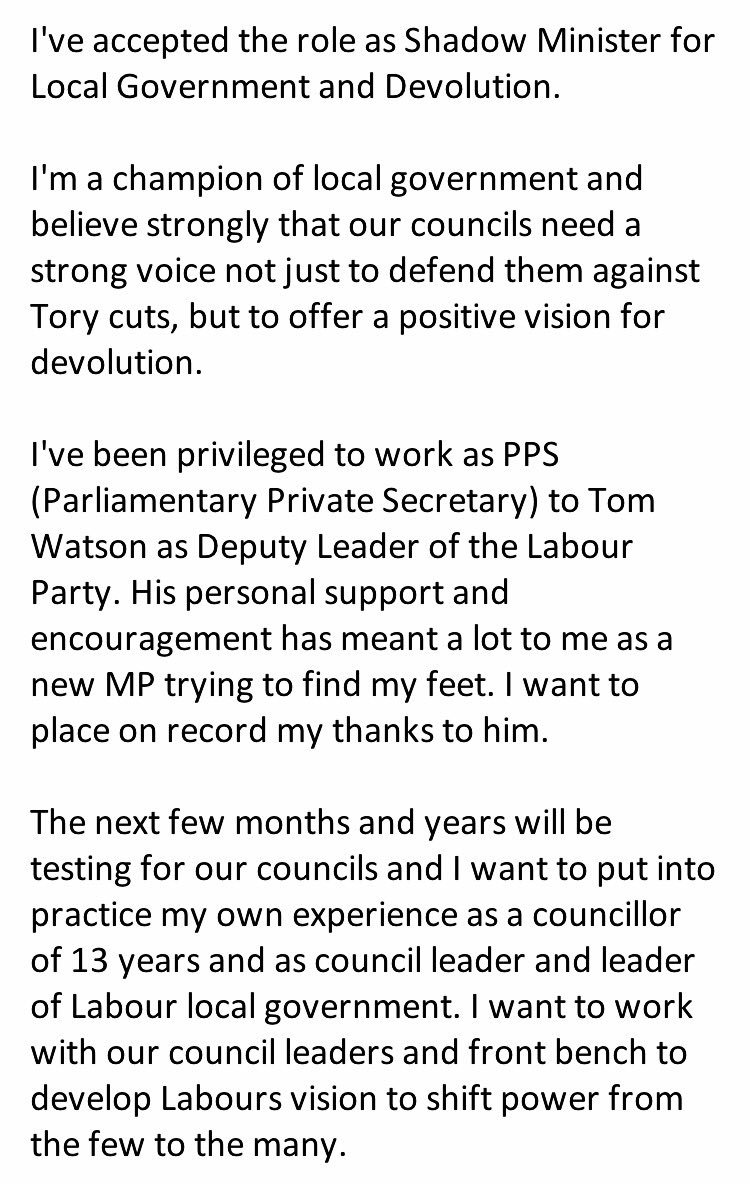 Jim Mcmahon Mp On Twitter Ive Accepted Role As