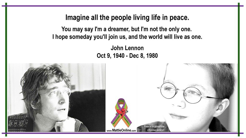 Remembering a man of peace, on his birthday. Thank you, John Lennon, for so much inspiration. https://t.co/SRe6F29NCr