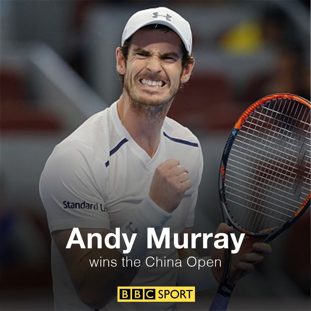 Andy murray twitter - Bbc Sport On Twitter He S Done It Andy Murray Has Won The China Open And Secures His Fifth Title Of The Year Https T Co W3yoabdebz