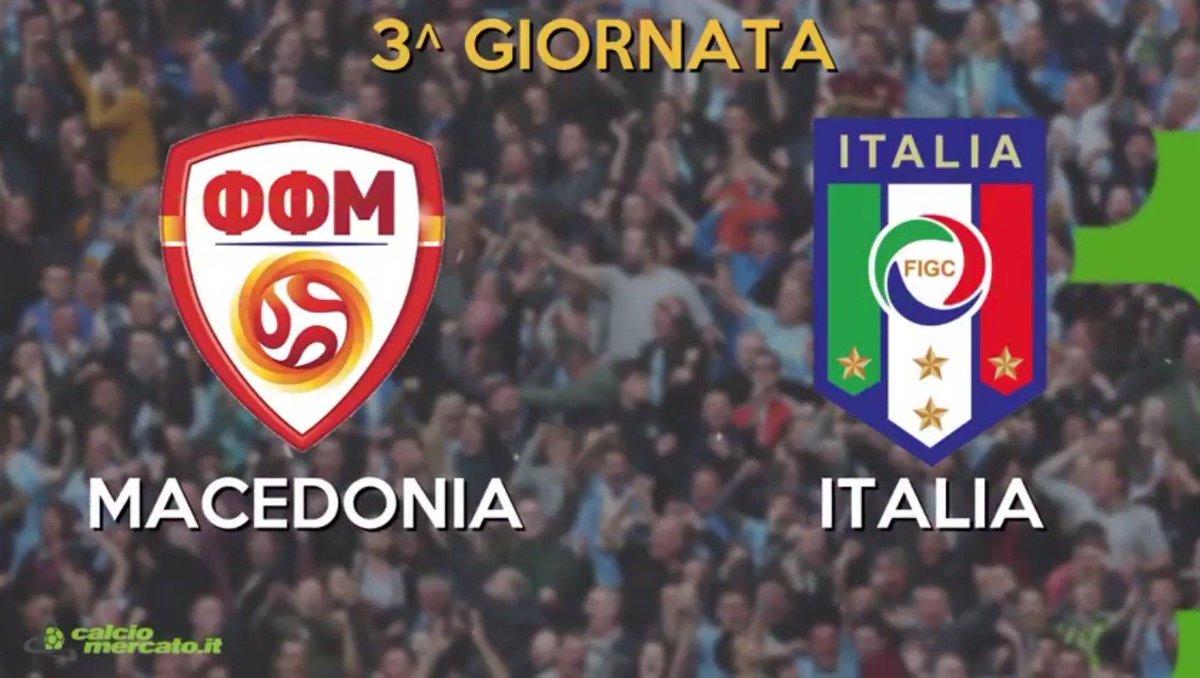 DIRETTA Macedonia ITALIA, vedere Streaming Rai TV gratis oggi 9 ottobre Qual Mondiali Russia 2018