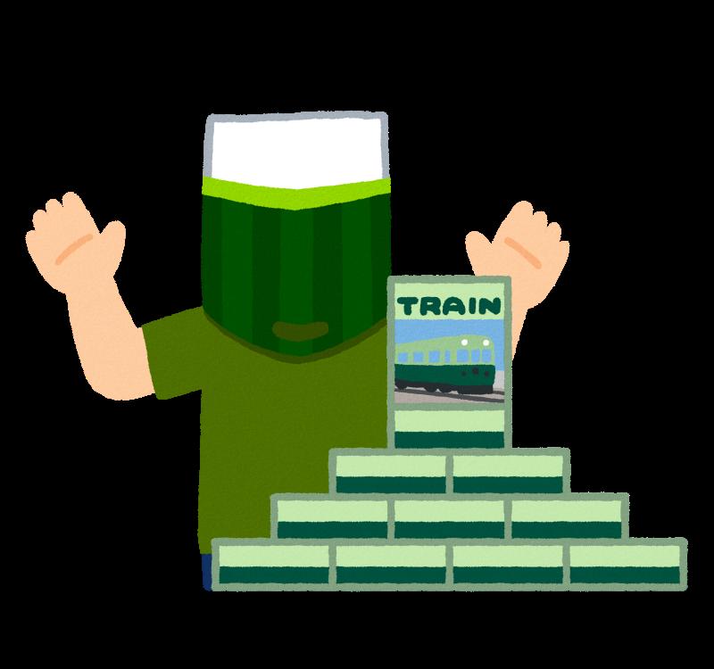 たくさんの鉄道模型を購入した男性のイラストです。 https://t.co/m9Z1rjlipw