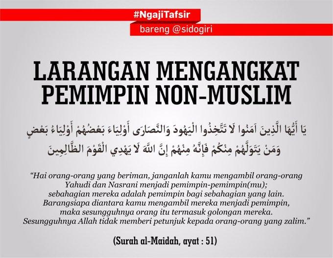 VIRAL] Tafsir Surah Al Maidah Ayat 51 by @sidogiri - Chirpstory