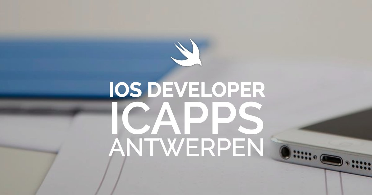 iOS Developer - iCapps #Antwerpen https://t.co/EJzyPMyVk0 #bejobs #vacature https://t.co/GJyNapgd0m