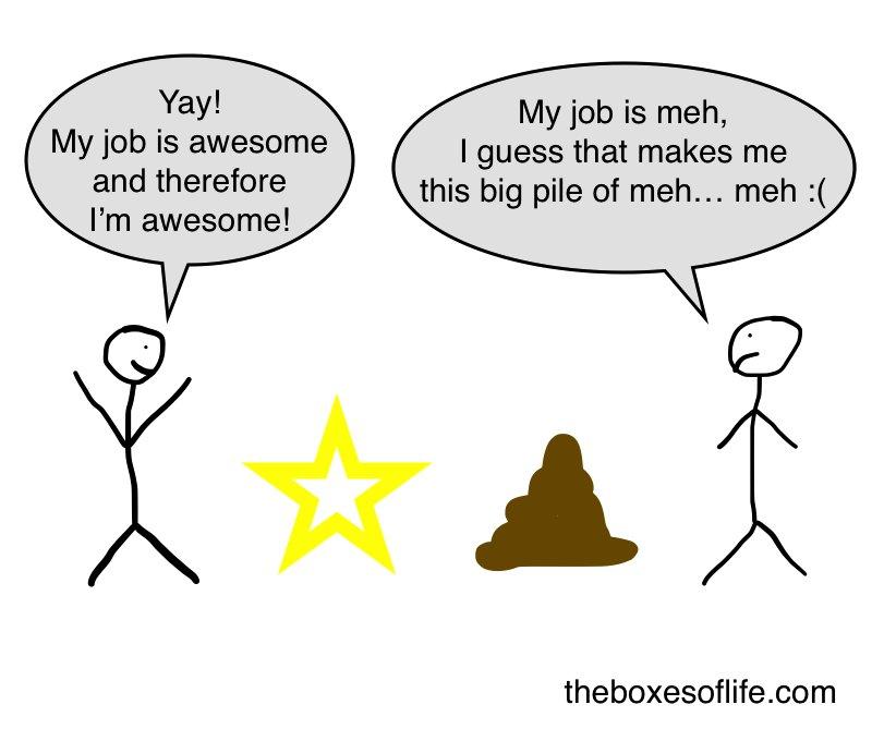 My job-life is better than your job-life