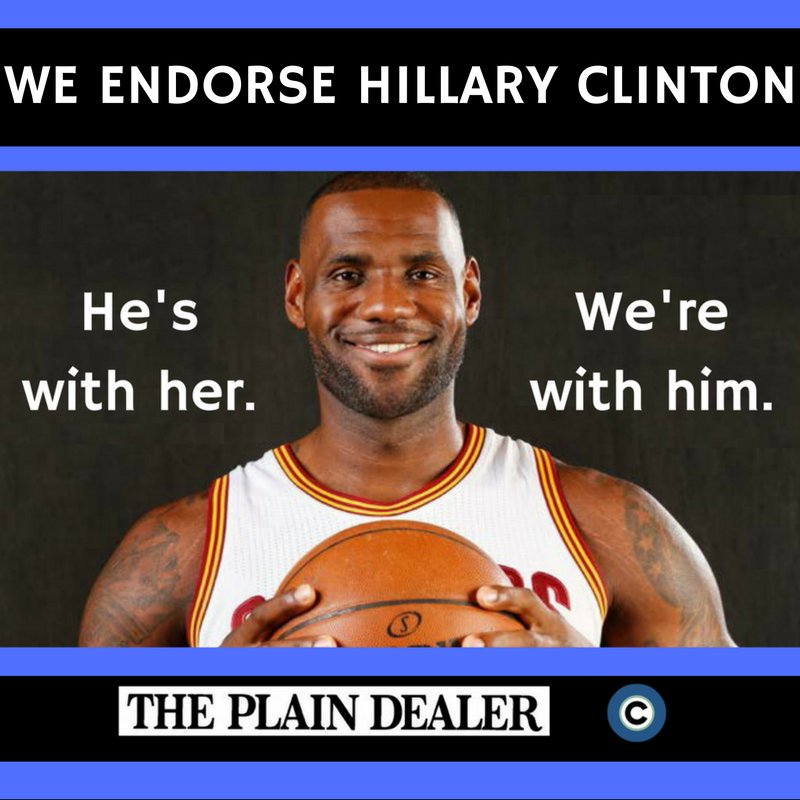 Why backing @KingJames and his endorsement of @HillaryClinton is the move for this election: https://t.co/3dzOMdPeZI