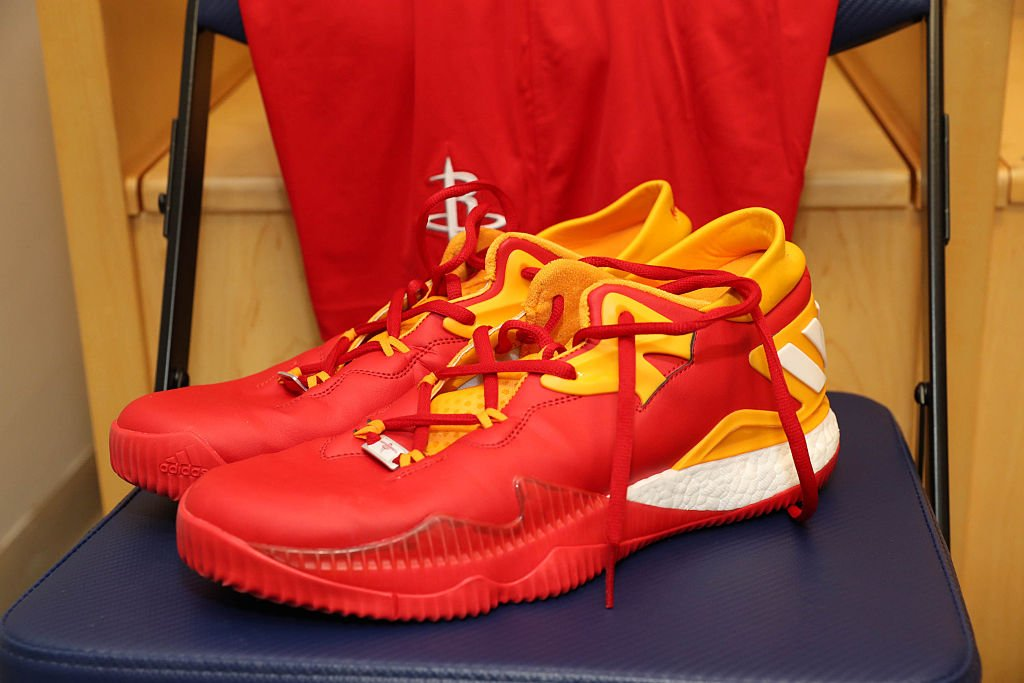pretty nice f5acd f7744 solewatch jharden13 wears clutch city adidas crazylight boost 2016 pe in  china