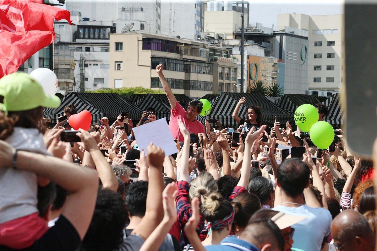 Apoiadores 'lançam' Haddad ao Governo de SP