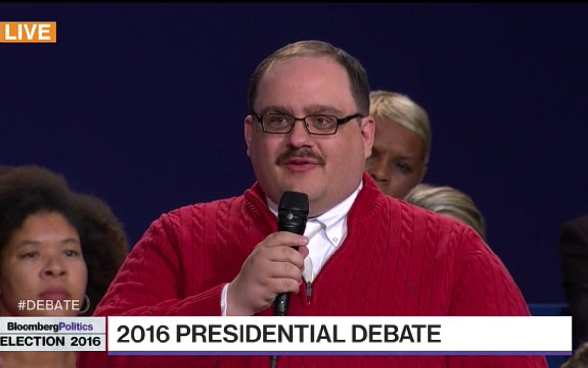And. Everyone is now dressing up as as Ken Bone for Halloween. MAYBE even me.