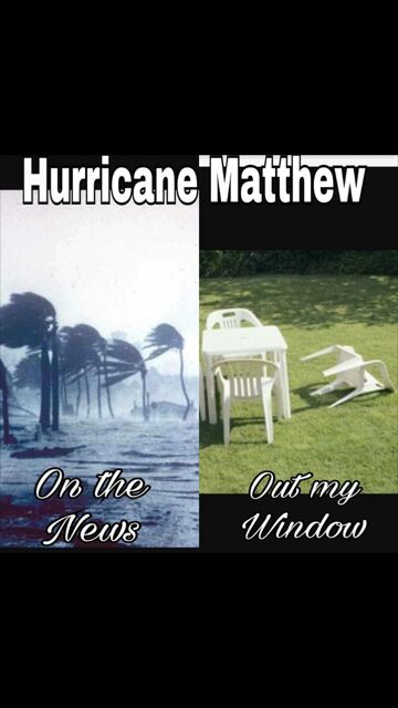 Hurricane Matthew pictures from TV vs out the window.... https://t.co/JEDV95zqnI