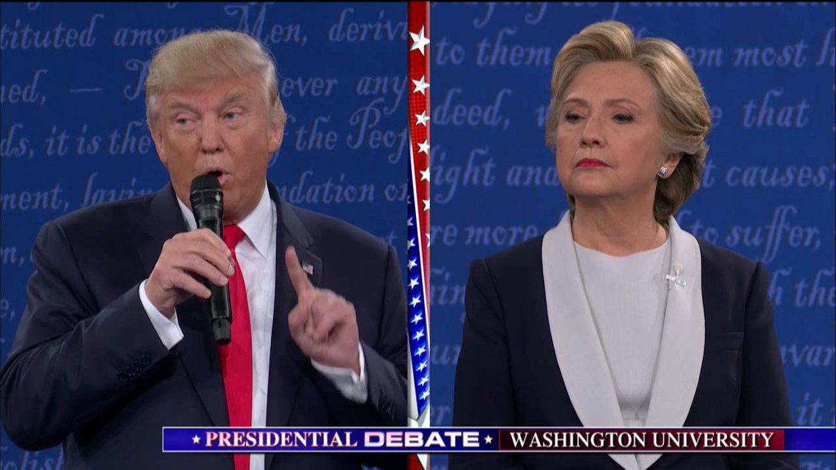 Вторые дебаты Трамп vs. Клинтон