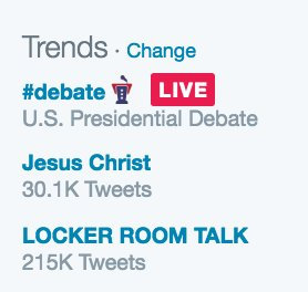 ":o RT @sageboggs: Haha tis debate is such a mess, ""Jesus Christ"" is trending https://t.co/aHbMMu6uwh"
