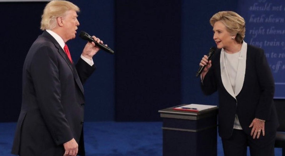 And then I go and spoil it all By saying something stupid Like I love you  #PresidentialDebate https://t.co/LJqHRmfngM