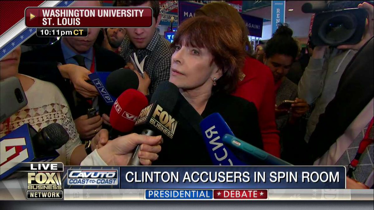 Kathleen Willey: '[@HillaryClinton] is a fake feminist. A champion of women does not attack the victims of sexual a… https://t.co/phbInvQp5D