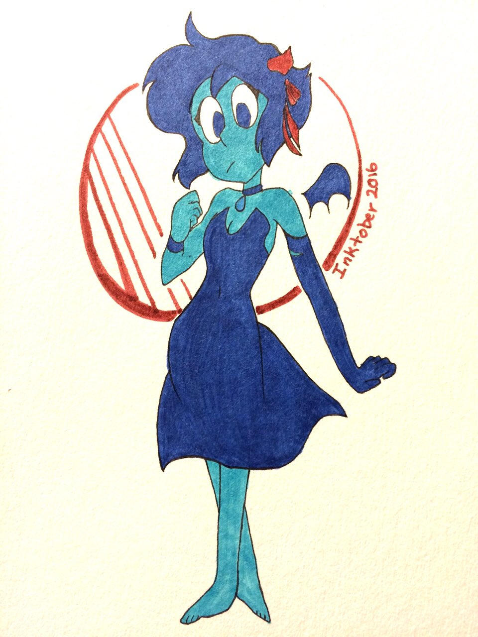 """casually joins late to #Inktober2016 Vampire Lapis!!"""