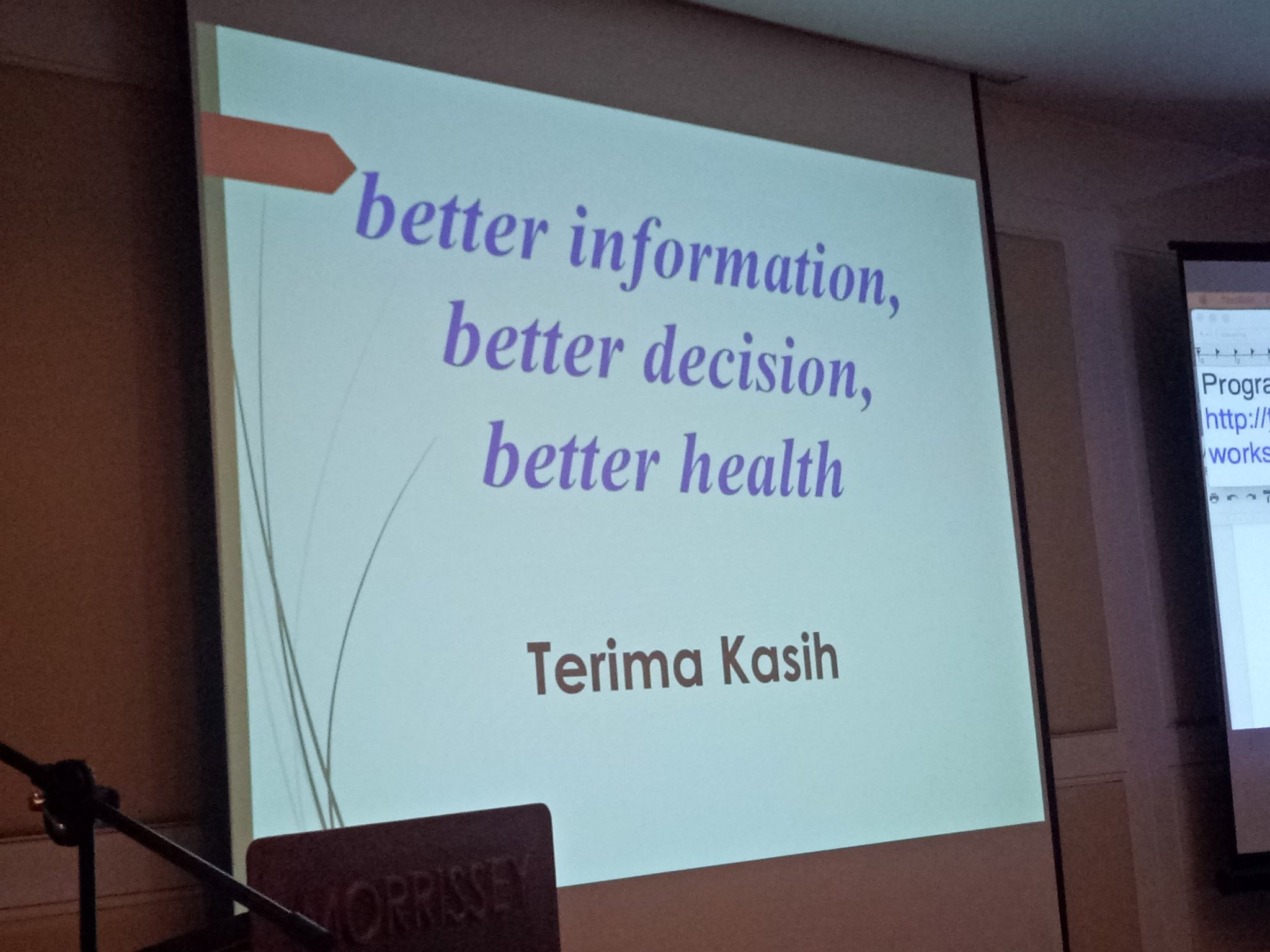 """Better information, better decision, better health"" - Final words from dr. Elizabeth @KemenkesRI #DataCollab https://t.co/cln4gjcJ3f"