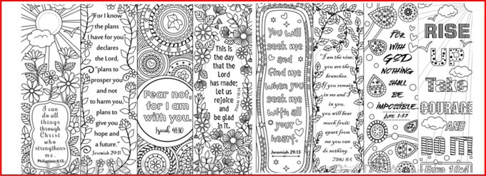 8 Bible verse coloring bookmarks bibleverse coloring bookmarks diy